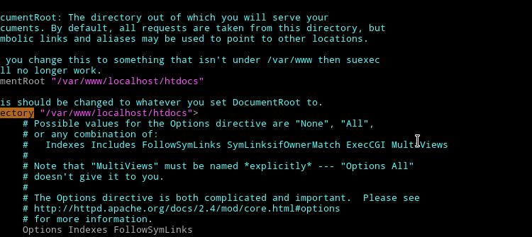 Change primary domain document root